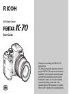Ricoh Pentax K-70 Start manual