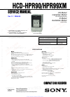 Sony HCD-HPR90 - Receiver Component For Mini Hi-fi Systems Service manual